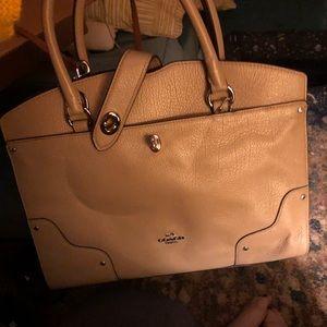 Taupe coach purse